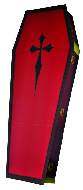 3D Coffin - Halloween Cardboard Cutout Standup Prop