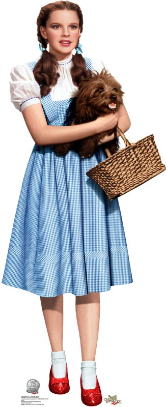 Dorothy Holding Toto - 75th Anniversary - The Wizard of Oz Cardboard Cutout Standup Prop