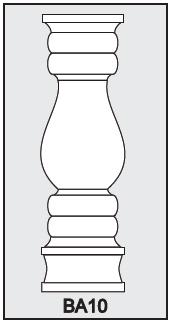 BA10 - Architectural Foam Shape - Baluster