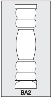 BA2 - Architectural Foam Shape - Baluster