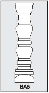 BA5 - Architectural Foam Shape - Baluster