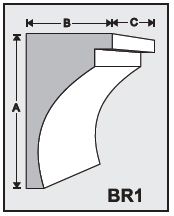 BR1 - Architectural Foam Shape - Bracket