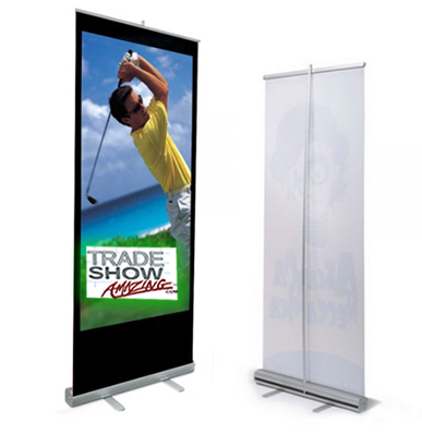 """Economy Roll Up Banner Stand- 33"""" Width"""