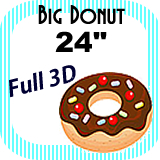 "Big/Giant Donut Foam Prop 24"""