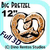 Big Giant Foam Pretzel Prop 12 Inches