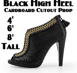Black Heel Cardboard Cutout Standup Prop