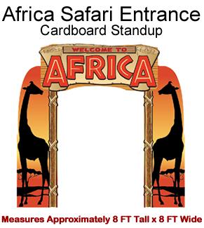 Africa Safari Entrance Cardboard Cutout Standup Prop