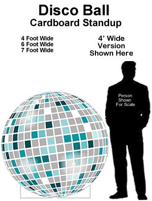 Disco Ball Cardboard Cutout Standup Prop