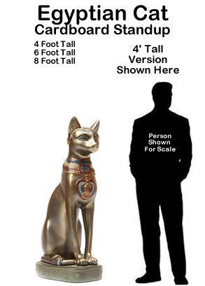 Egyptian Cat Cardboard Cutout Standup Prop