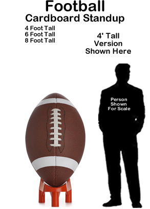 Football Cardboard Cutout Standup Prop