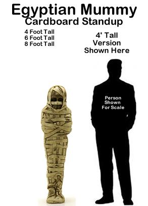 Egyptian Mummy Cardboard Cutout Standup Prop