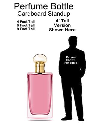 Perfume Bottle Cardboard Cutout Standup Prop
