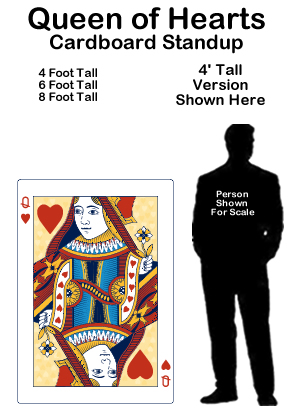 Queen of Hearts Cardboard Cutout Standup Prop
