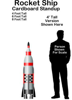 Rocketship Cardboard Cutout Standup Prop