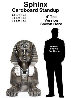 Egyptian Sphinx Cardboard Cutout Standup Prop