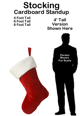 Christmas Stocking Cardboard Cutout Standup Prop