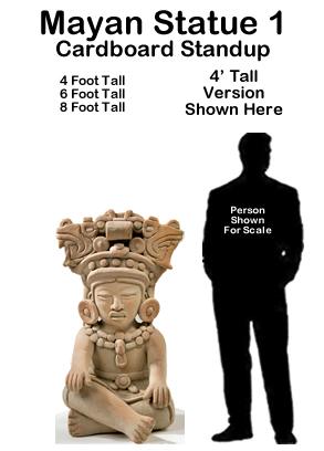 Mayan Statue 1 Cardboard Cutout Standup Prop