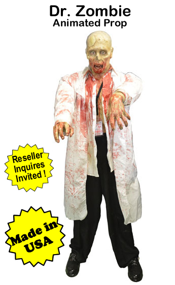 Dr Zombie Animated Prop