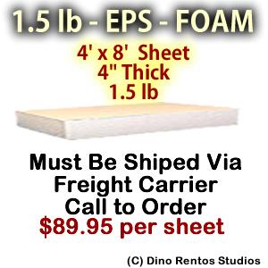 EPS Foam Sheet - 1.5 lb Density - 48x96x4