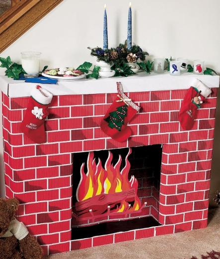 Nostalgic Fireplace 3D Cardboard Kit