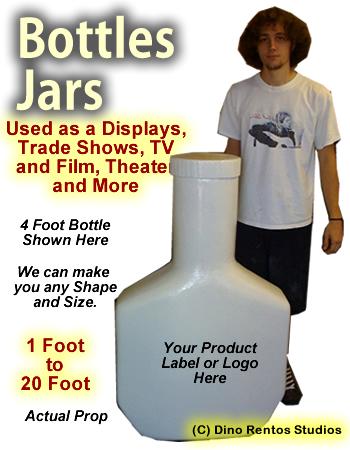 Giant/Big Foam Bottle Prop - Any Size - Dino Rentos Studios