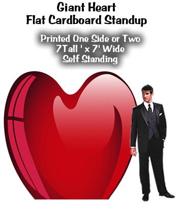 Giant Heart Cardboard Cutout Standup Prop