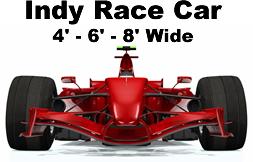 Indy Car Cardboard Cutout Standup Prop Dino Rentos Studios Inc