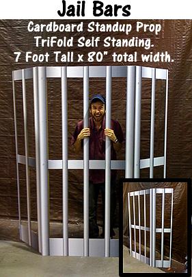 Jail Bars Cardboard Cutout Standup Prop