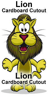 Lion Cartoon Cardboard Cutout Standup Prop