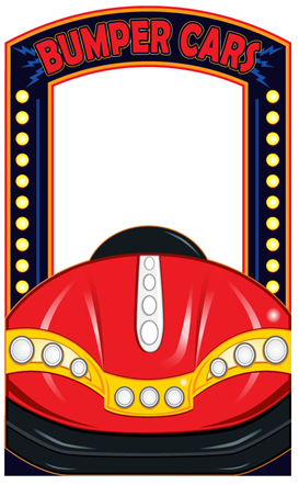 Bumper Car Photo Cardboard Stand In