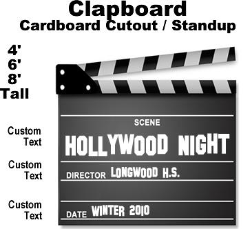 Hollywood Clapboard Cardboard Cutout Standup Prop