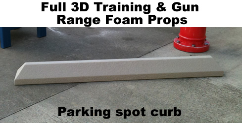 Life Size- Parking Spot Curb foam prop sculpture