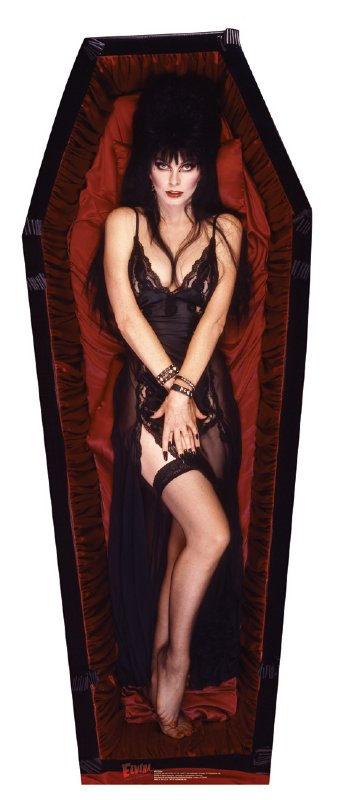 Elvira Coffin - Halloween Cardboard Cutout Standup Prop