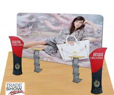 20ft Straight Portable Fabric Tension Exhibition Display System- Style A (With Graphic)