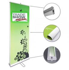 "Double Sided Roll Up Banner Stand-33"" Width"