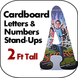 big giant oversized cardboard letters numbers dino With 2 foot cardboard letters