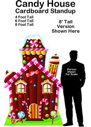 Candy House Cardboard Cutout Standup Prop