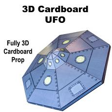 3D Cardboard UFO