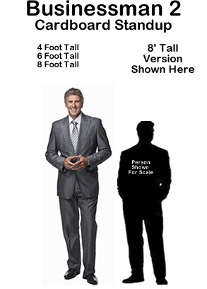Businessman 2 Cardboard Cutout Standup Prop
