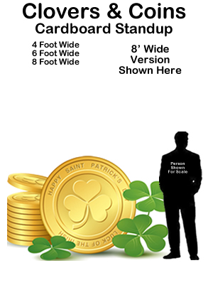Lucky Coins and Clovers Cardboard Cutout Standup Prop