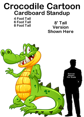 Crocodile Cartoon Cardboard Cutout Standup Prop
