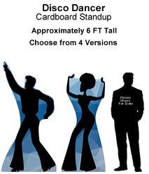Disco Dancer Cardboard Cutout Standup Prop