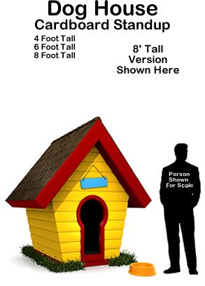 Doghouse Cardboard Cutout Standup Prop