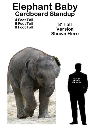Elephant Baby Cardboard Cutout Standup Prop