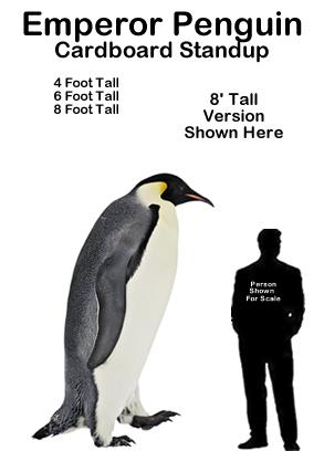 Emperor Penguin Cardboard Cutout Standup Prop