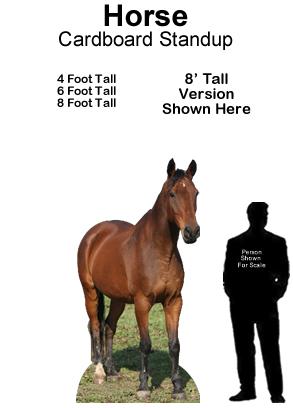 Horse 1 Cardboard Cutout Standup Prop