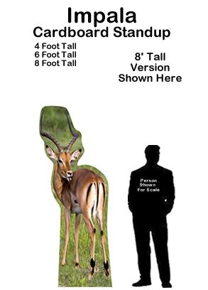 Impala Cardboard Cutout Standup Prop