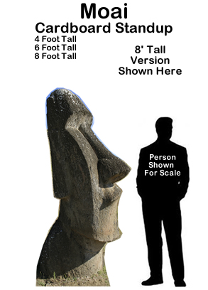 Moai Cardboard Cutout Standup Prop