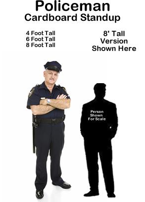 Policeman Cardboard Cutout Standup Prop
