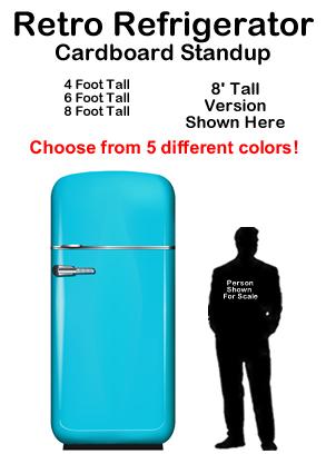 Retro Refrigerator Cardboard Cutout Standup Prop